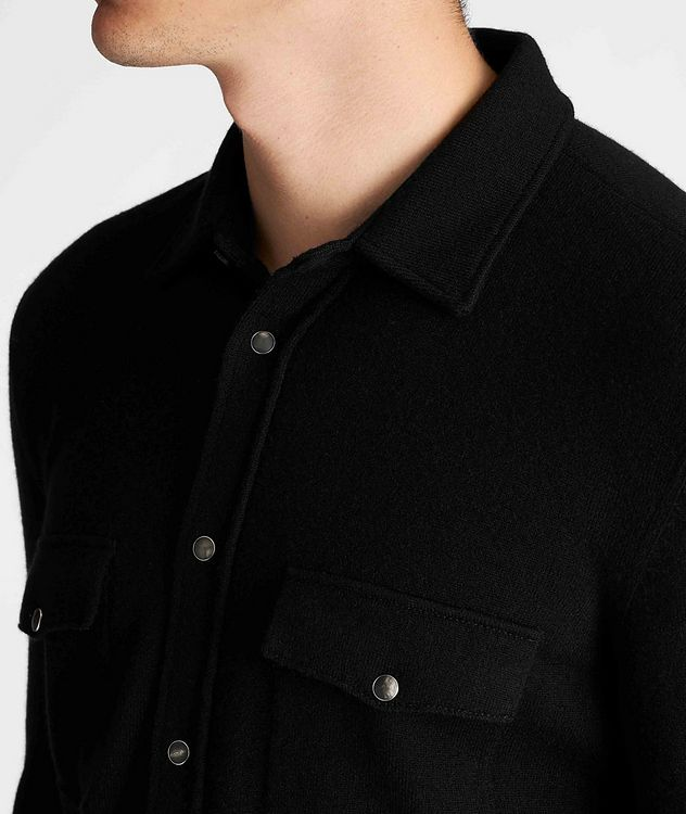 Wool, Cashmere, and Silk Shirt Jacket picture 4
