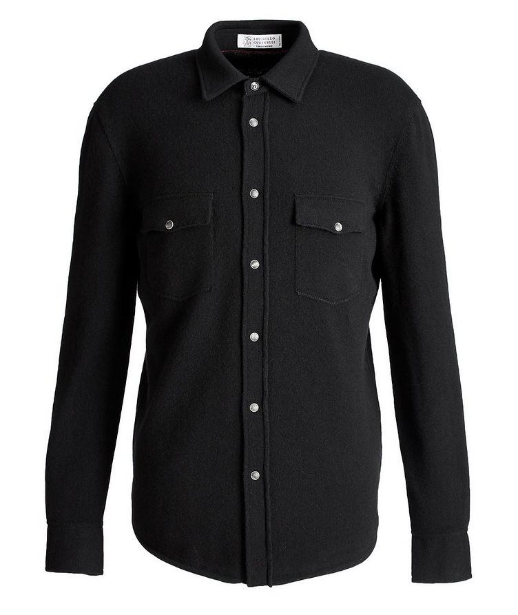 Wool, Cashmere, and Silk Shirt Jacket image 0