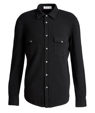 Brunello Cucinelli Wool, Cashmere, and Silk Shirt Jacket