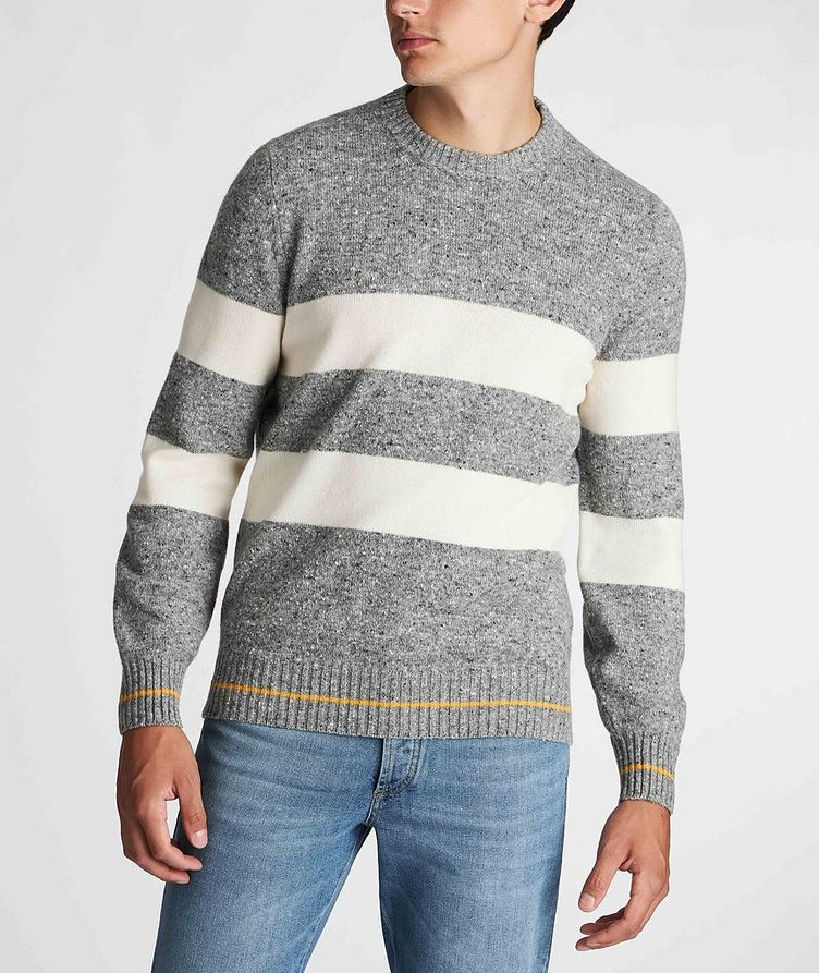 Striped Knit Wool-Cashmere Sweater  image 1