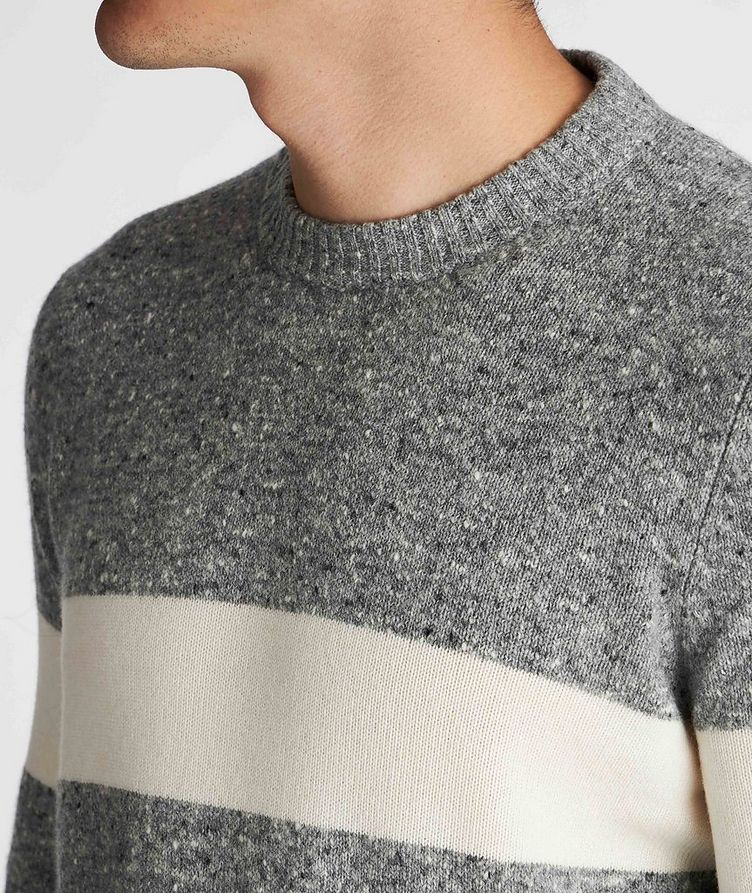 Striped Knit Wool-Cashmere Sweater  image 3