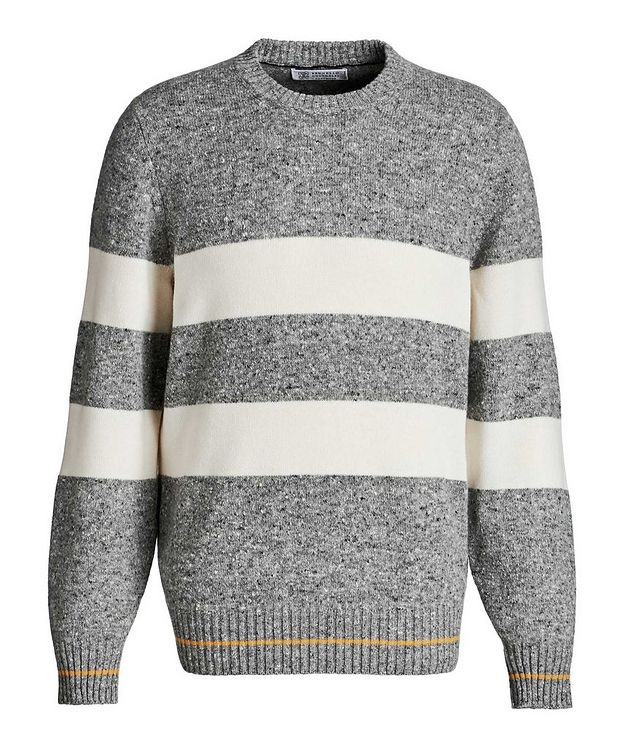 Striped Knit Wool-Cashmere Sweater  picture 1
