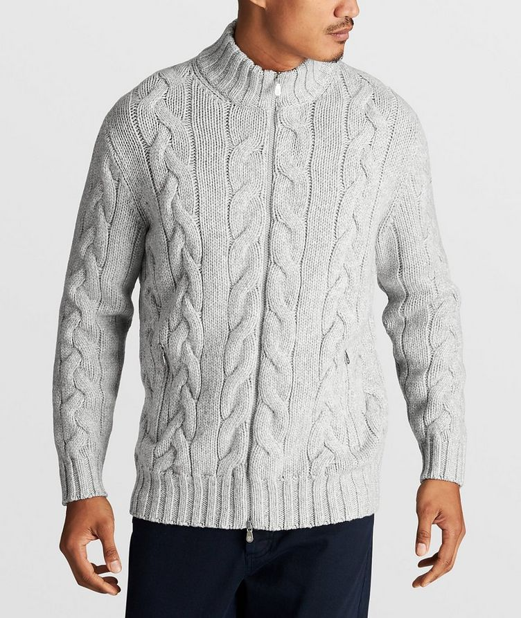 Cable-Knit Cashmere Sweater image 1