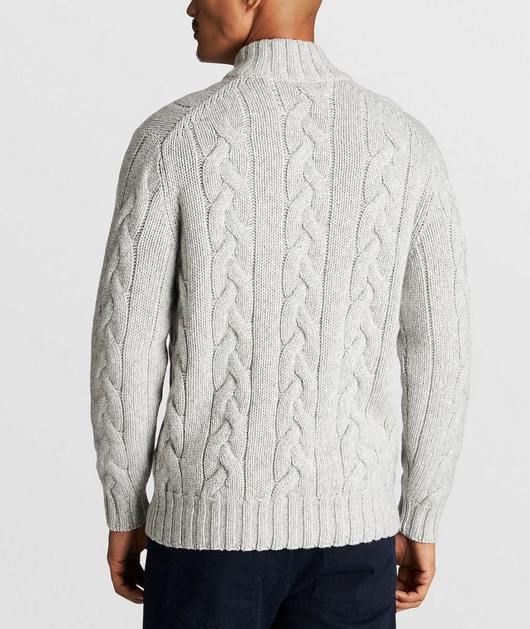 Cable-Knit Cashmere Sweater image 2
