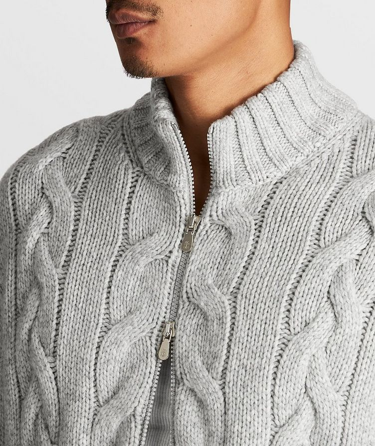Cable-Knit Cashmere Sweater image 3
