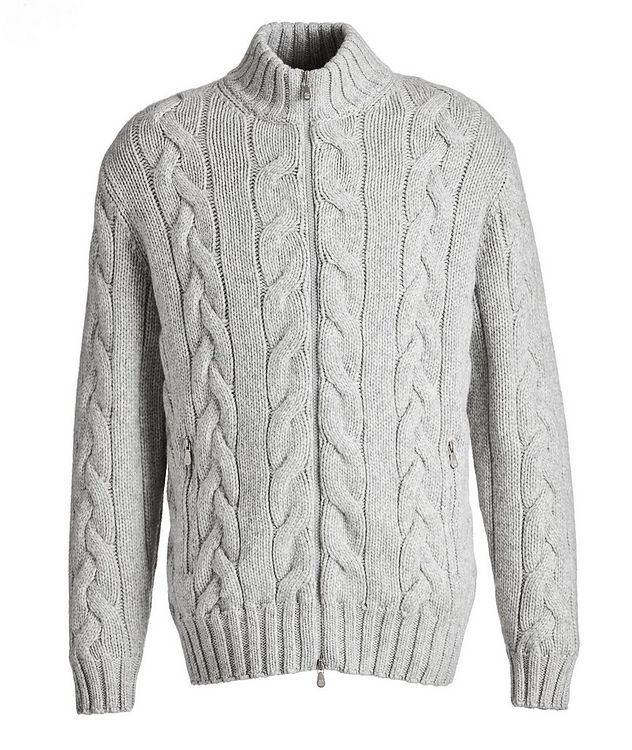 Cable-Knit Cashmere Sweater picture 1