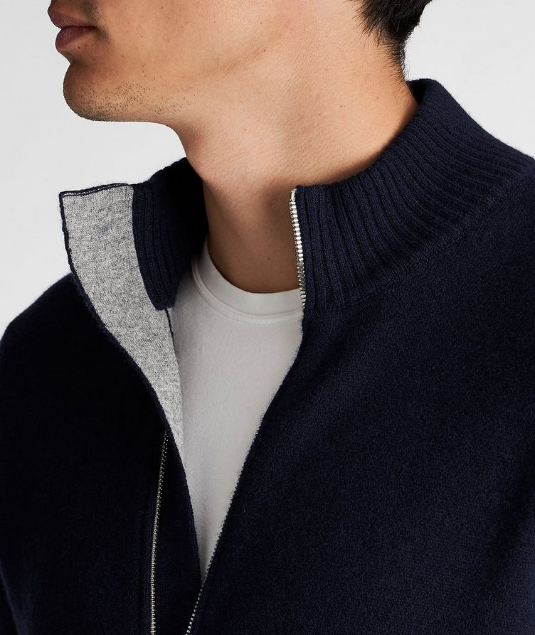 Zip-Up Cashmere Sweater image 3