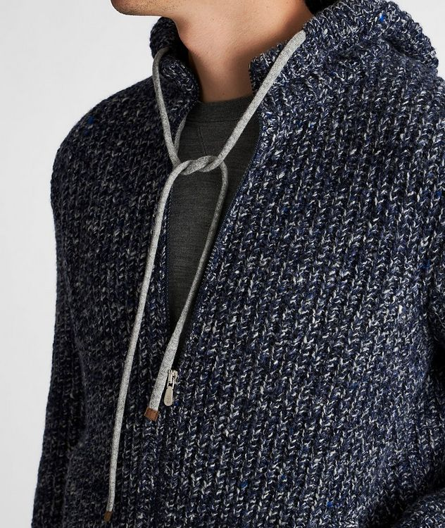 Zip-Up Wool-Cashmere Hoodie picture 4
