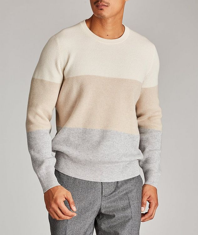 Striped Wool, Cashmere, and Silk Sweater picture 2