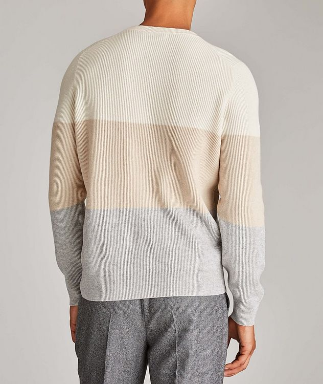 Striped Wool, Cashmere, and Silk Sweater picture 3