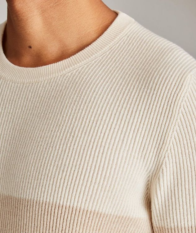 Striped Wool, Cashmere, and Silk Sweater picture 4