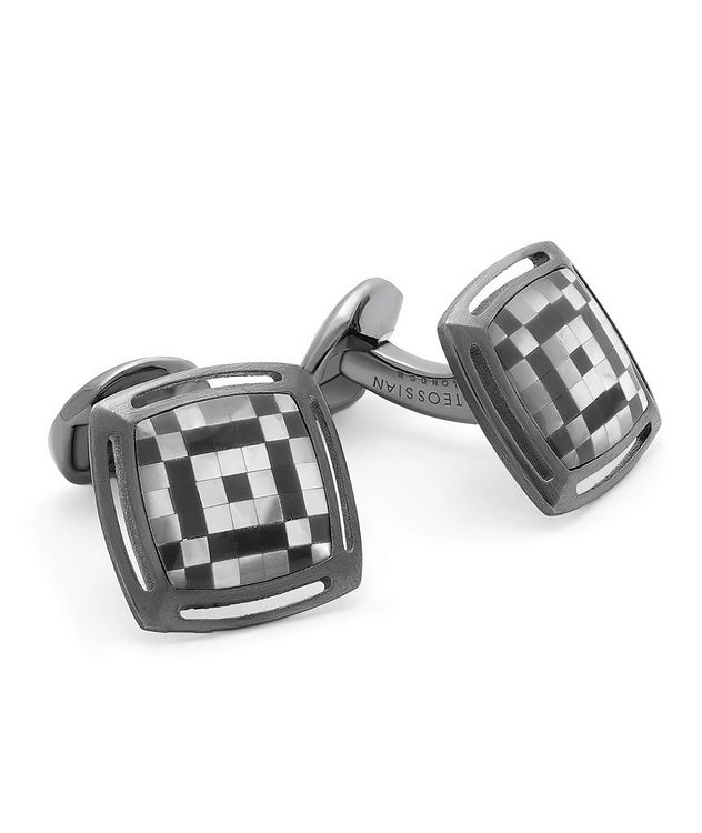 Art Deco Mosaic Cufflinks picture 1
