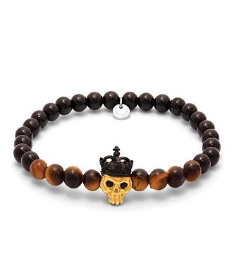 Tateossian London King Skull Beaded Bracelet