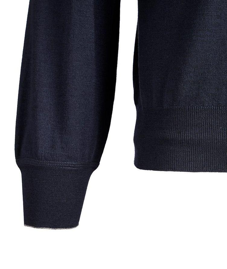 Wool-Cashmere Mock Neck Sweater image 3