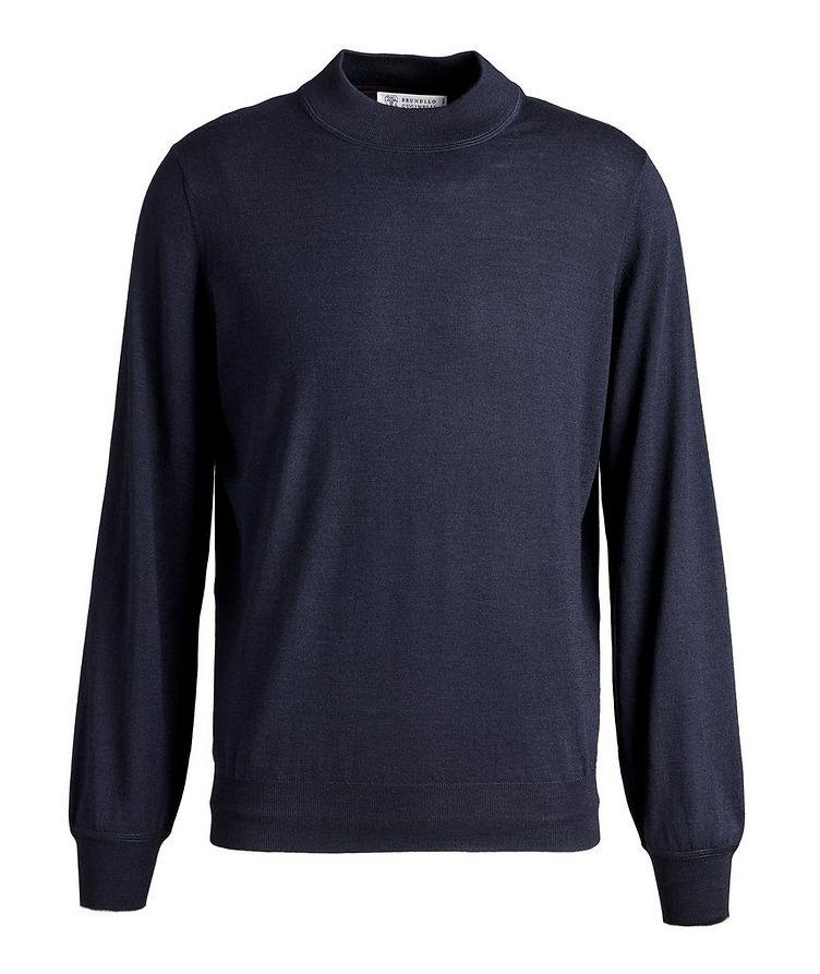 Wool-Cashmere Mock Neck Sweater image 0