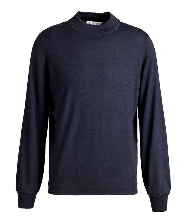 Wool-Cashmere Mock Neck Sweater picture 1