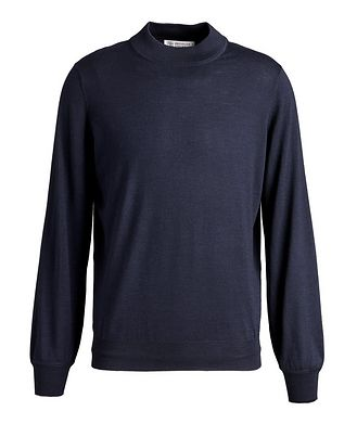 Brunello Cucinelli Wool-Cashmere Mock Neck Sweater