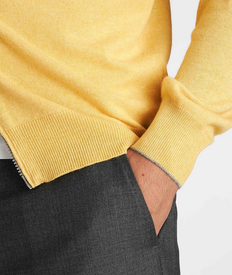 Zip-Up Cashmere Sweater image 4