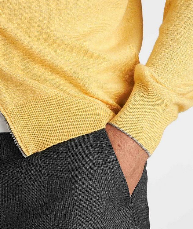 Zip-Up Cashmere Sweater picture 5