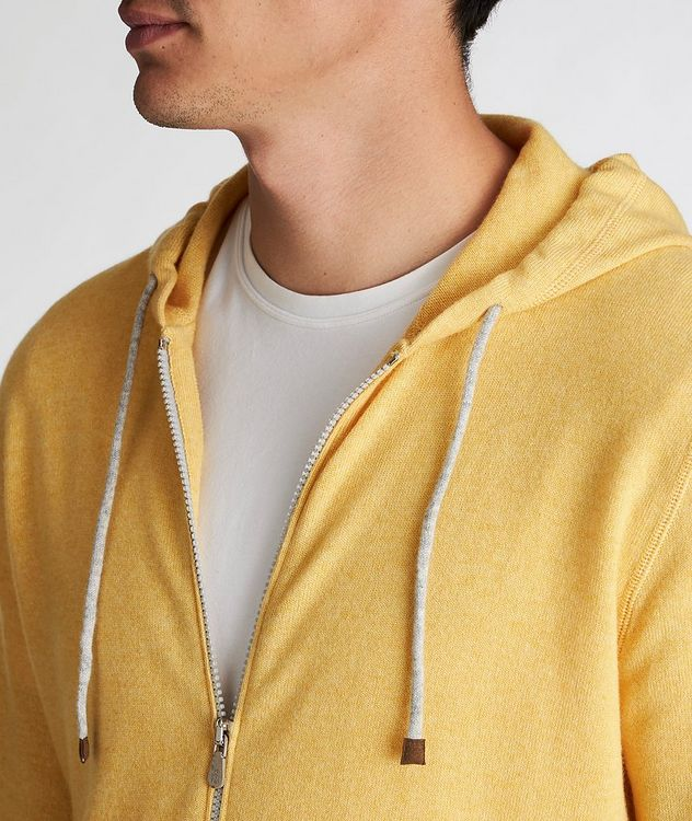 Zip-Up Cashmere Hoodie picture 3