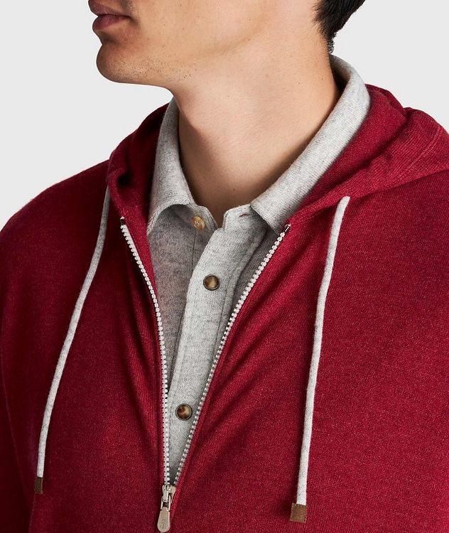 Zip-Up Cashmere Hoodie picture 4