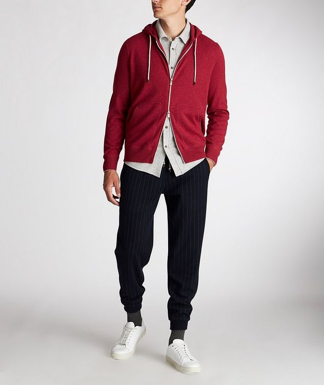 Zip-Up Cashmere Hoodie picture 5