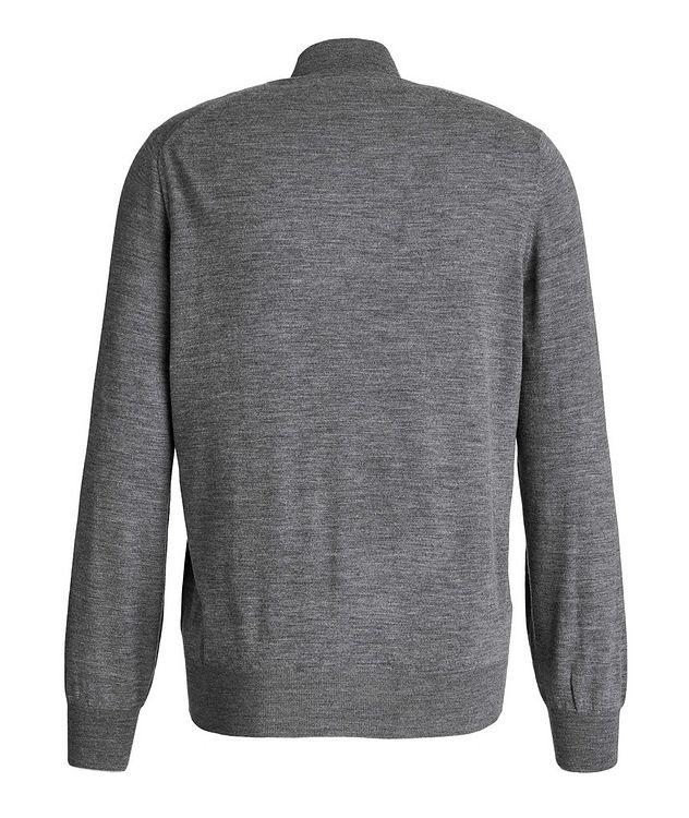 Cashmere-Virgin Wool Zip-Up Cardigan picture 2
