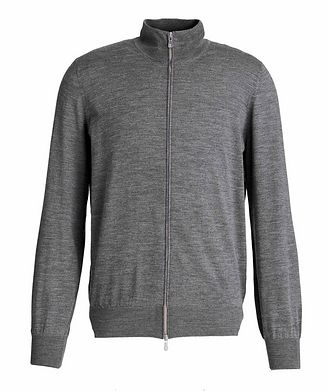 Brunello Cucinelli Cashmere-Virgin Wool Zip-Up Cardigan
