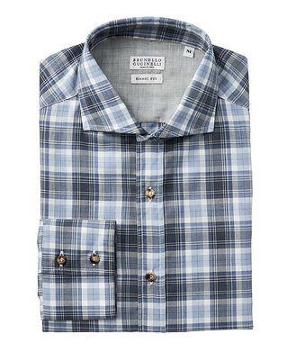 Brunello Cucinelli Plaid Cotton Shirt