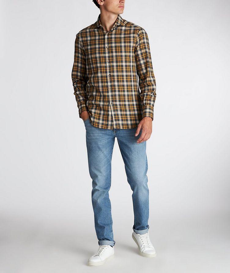 Chemise en coton à carreaux image 4