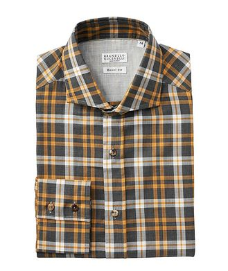 Brunello Cucinelli Plaid Cotton Shirt