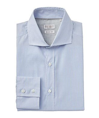 Brunello Cucinelli Micro-Grid Cotton Shirt