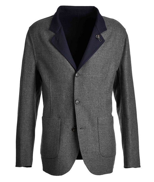 Reversible Cashmere-Silk Sports Jacket picture 1