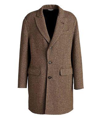 Brunello Cucinelli Pardessus en laine et cachemire à motif de chevrons