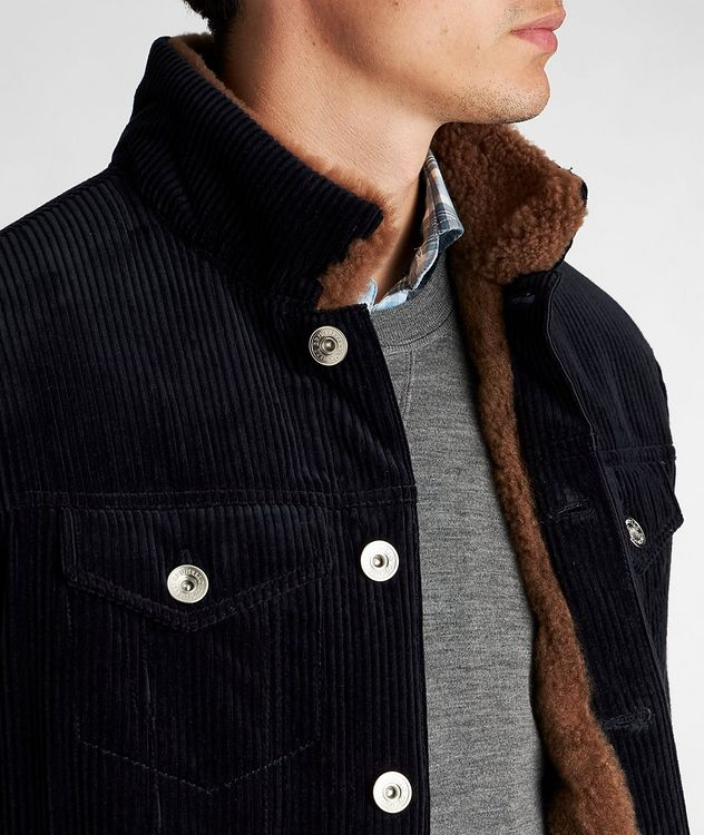 Shearling-Lined Cotton-Cashmere Corduroy Jacket picture 4