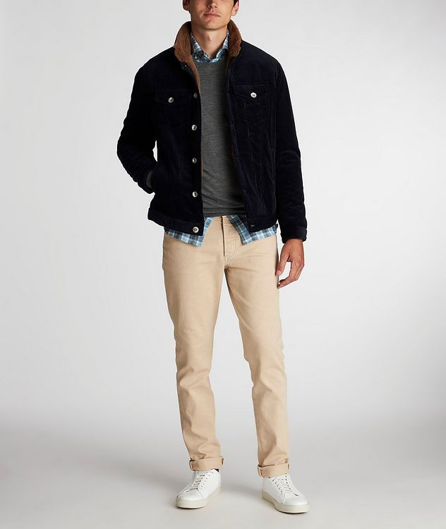 Shearling-Lined Cotton-Cashmere Corduroy Jacket picture 5