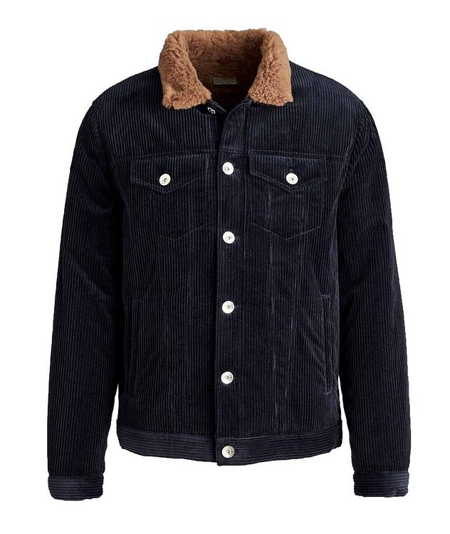 Shearling-Lined Cotton-Cashmere Corduroy Jacket picture 1