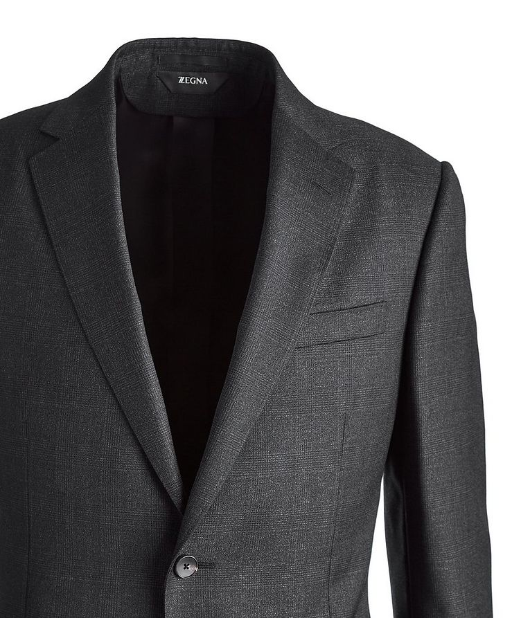 Drop 8 Glen Checked Twill Wool Suit image 1
