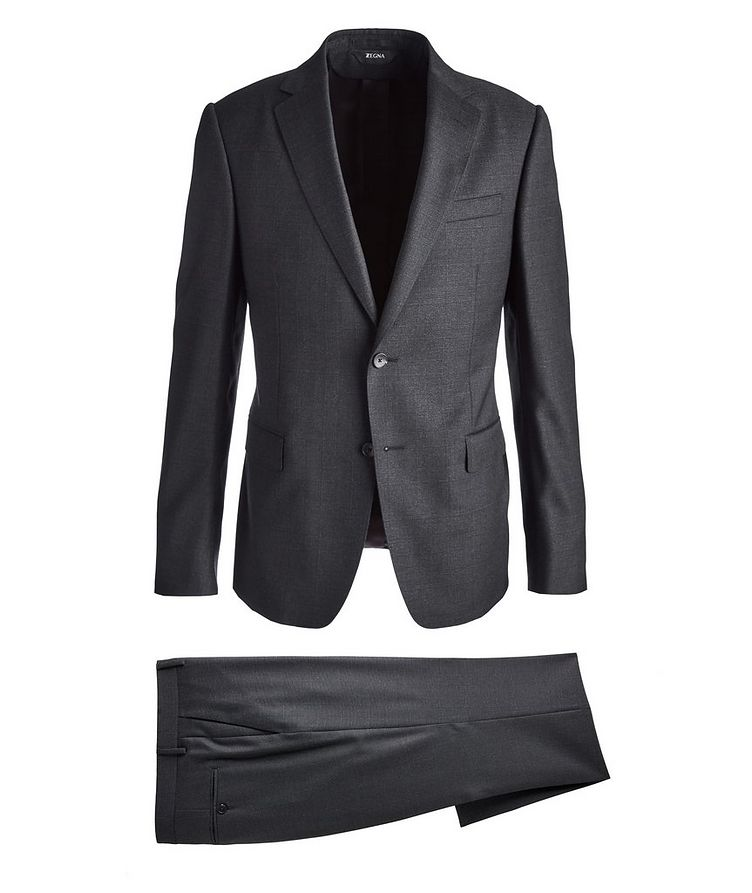 Drop 8 Glen Checked Twill Wool Suit image 0