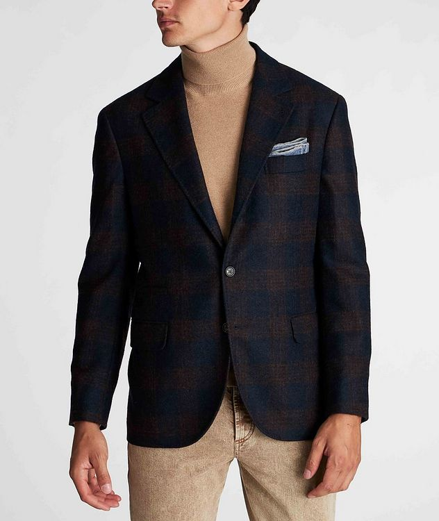 Unstructured Checked Alpaca-Wool Sports Jacket picture 2