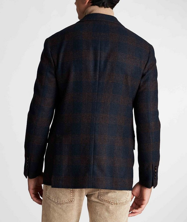 Unstructured Checked Alpaca-Wool Sports Jacket image 2