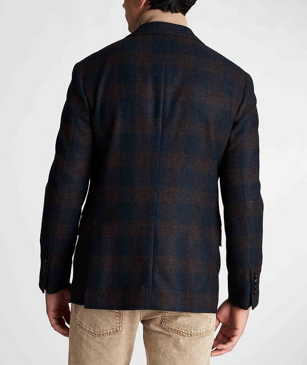 Unstructured Checked Alpaca-Wool Sports Jacket picture 3