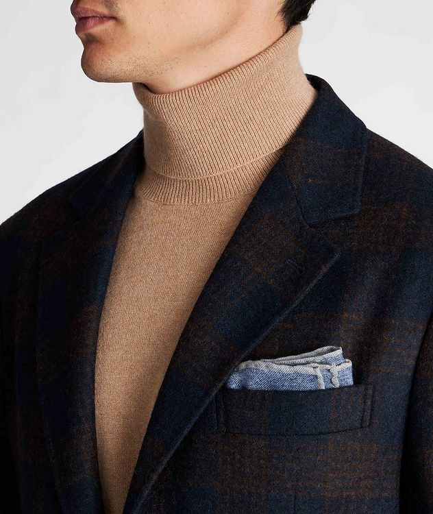 Unstructured Checked Alpaca-Wool Sports Jacket picture 4