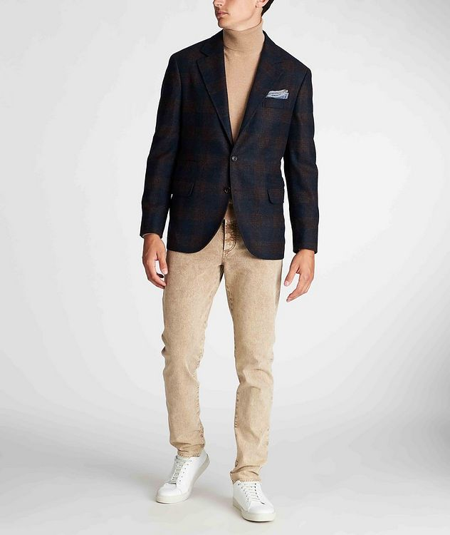 Unstructured Checked Alpaca-Wool Sports Jacket picture 5