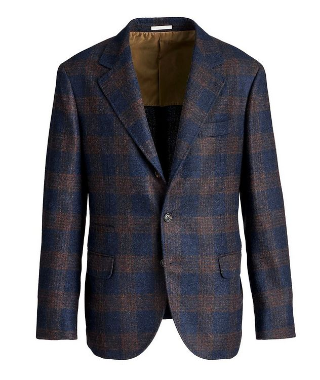 Unstructured Checked Alpaca-Wool Sports Jacket picture 1