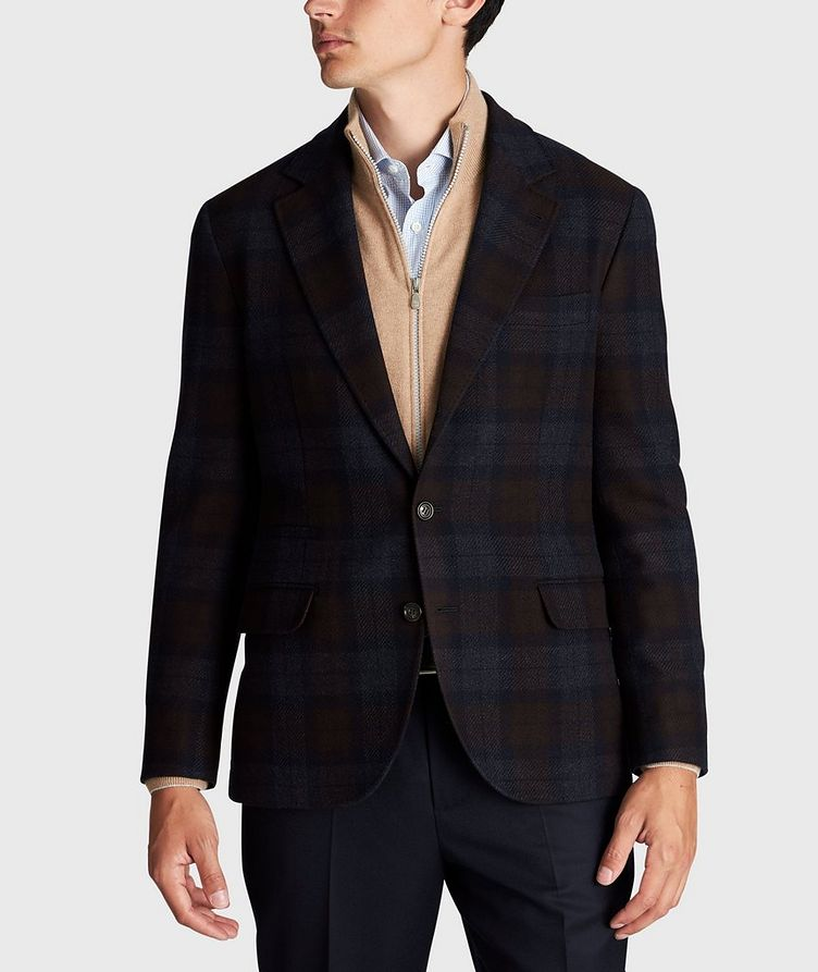 Checked Wool-Cashmere Sports Jacket image 1