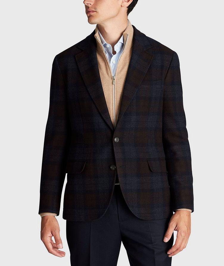 Veston en laine et cachemire à motif quadrillé image 1