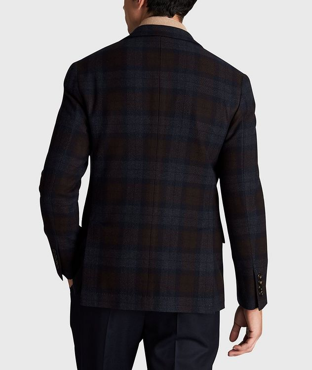 Checked Wool-Cashmere Sports Jacket picture 3