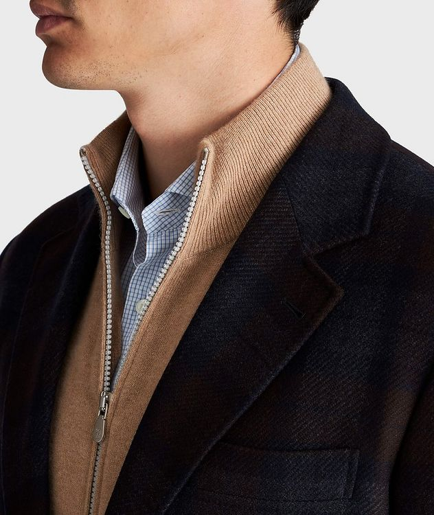 Checked Wool-Cashmere Sports Jacket picture 4