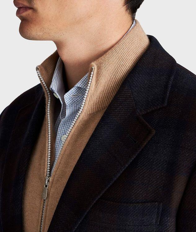 Veston en laine et cachemire à motif quadrillé picture 4